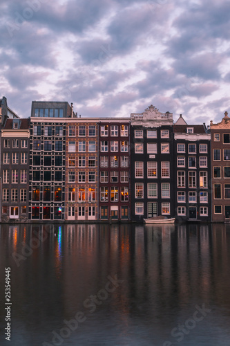 View from Amsterdam, Holland, The Netherlands. Canvas Print