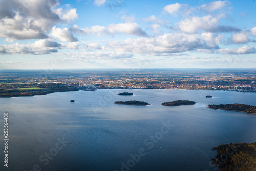 Deurstickers Australië View of Stockholm archipelago seen from the airplane, Sweden