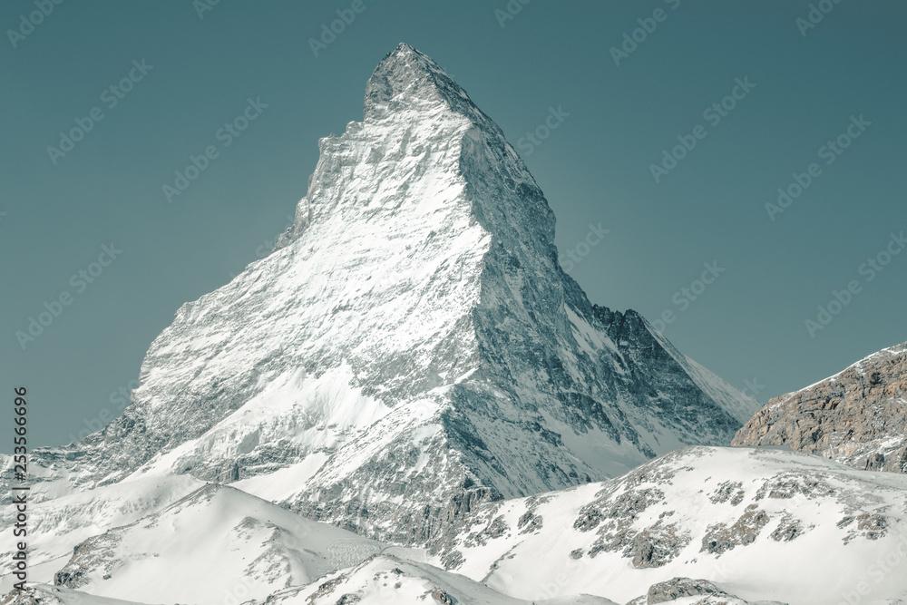 Fototapety, obrazy: View to the majestic Matterhorn mountain, Valais, Switzerland