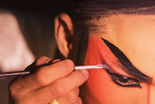 Chinese Opera Actress Is Paint...
