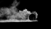 3d Render Burnout Wheels With Smoke On Black Background