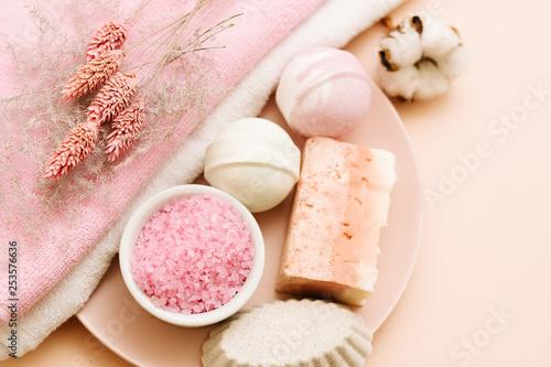 Fotografie, Obraz Bath pampering set