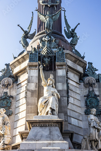 Foto  Barcelona Cilumbus monument (Mirador de Colom), Catalonia, Spain