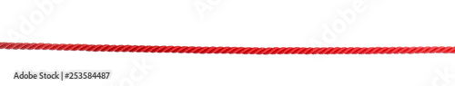 Strong red climbing rope on white background Wallpaper Mural