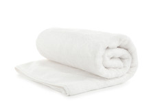 Rolled Soft Terry Towel On Whi...