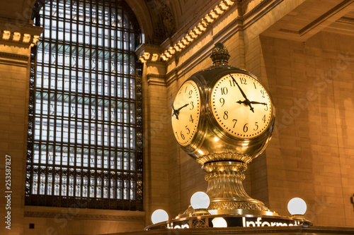 Close up of Grand Central Terminal Clock in New York City, USA Canvas Print