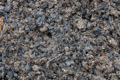 Fotografie, Obraz  gray black natural texture of ash and earth