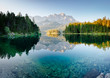 Famous lake Eibsee the best outdoor adventure vacation destinations.