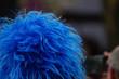 Blaue Karnevalsperücke