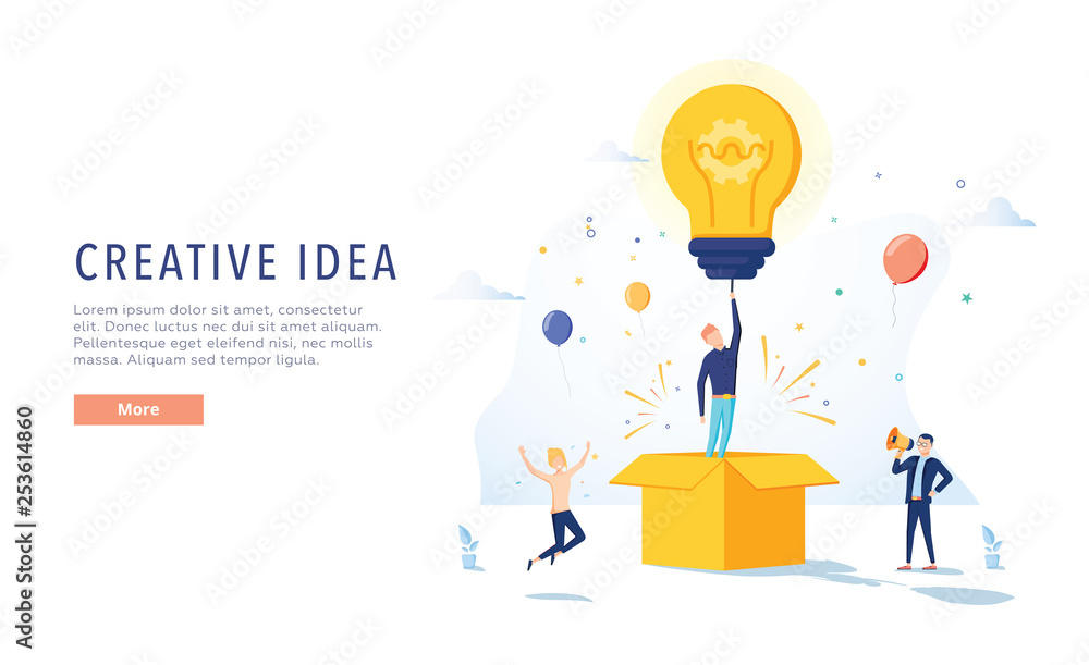 Fotografie, Obraz  Copywriter Creative Idea Landing Page