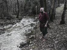 Viking Walking In The Woods