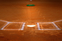 Baseball Homeplate Batter Box Chalk Line Brown Clay Dirt