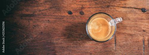 Photo  Transparent cup of espresso
