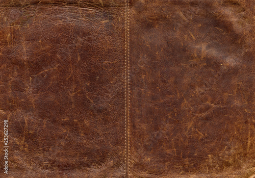 Old leather background Canvas Print