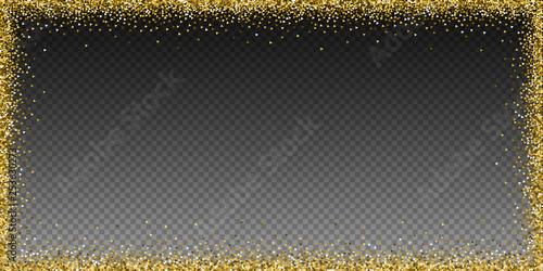 Photo Gold triangles glitter luxury sparkling confetti.