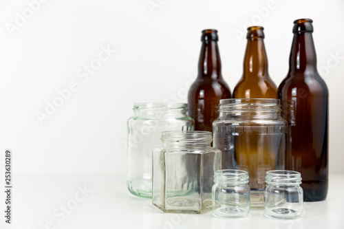 Fotografie, Obraz  Empty beer bottles. Recycling glass concept