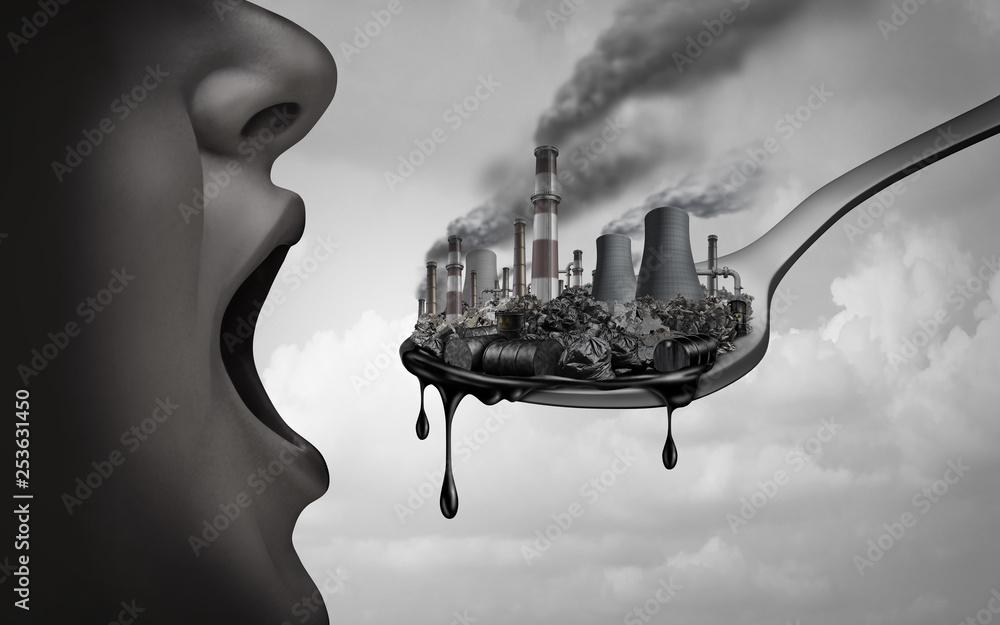 Fototapeta Concept Of Pollution