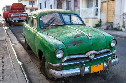 Garden Poster Cars from Cuba Santiago de Cuba / Classic Car