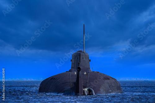 Fotografia Military submarine on the water