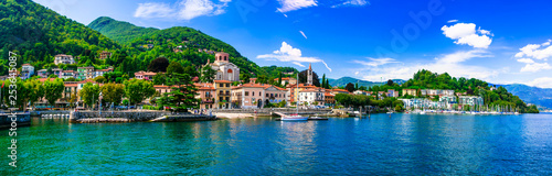 Photo Picturesque lake Lago Maggiore