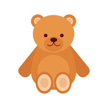 Teddy Bear. Toy Teddy Bear. Toy. White Background. Vector Illustration. EPS 10.
