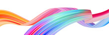 Colorful Flow Brush Stroke. Ri...