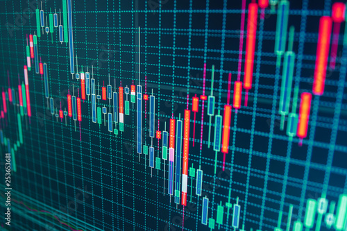 Professional market analysis  Stock market quotes on display
