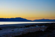 Salton Sea California At Sunset