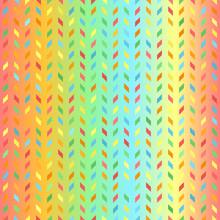Bright Polygon Pattern. Seamless Vector