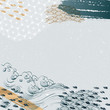 Japanese template vector. Brush strokes with wave element background. Abstract pattern.