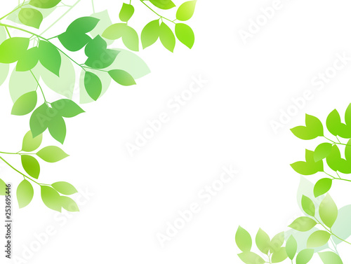 Fresh green image background material Canvas