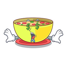 Money Eye Corn Chowder In A Cartoon Plate