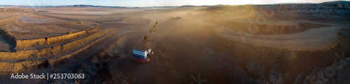 Fotografie, Obraz Coal mining in open pit