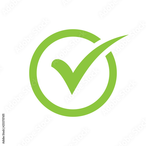 Obraz check icon vector. check mark icon. check list button icon - fototapety do salonu