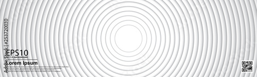Fotobehang Fractal waves The abstract gradient gray color circle background.