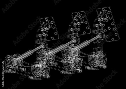 Photo car pedals Architect Blueprint