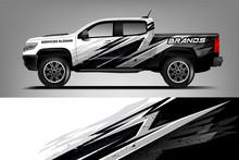 Company Truck Wrap Design. Custom Livery Wrap Design For Company Truck. Ready Print Vector Eps. - Vector