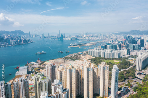 Photo sur Toile Amsterdam Residential area in Hong Kong