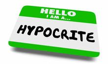 Hypocrite Liar Fake Name Tag 3d Illustration