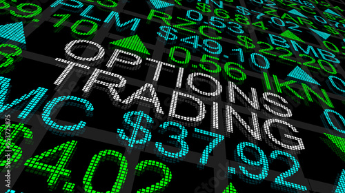 Photo Options Trading Stock Market Ticker 3d Illustration