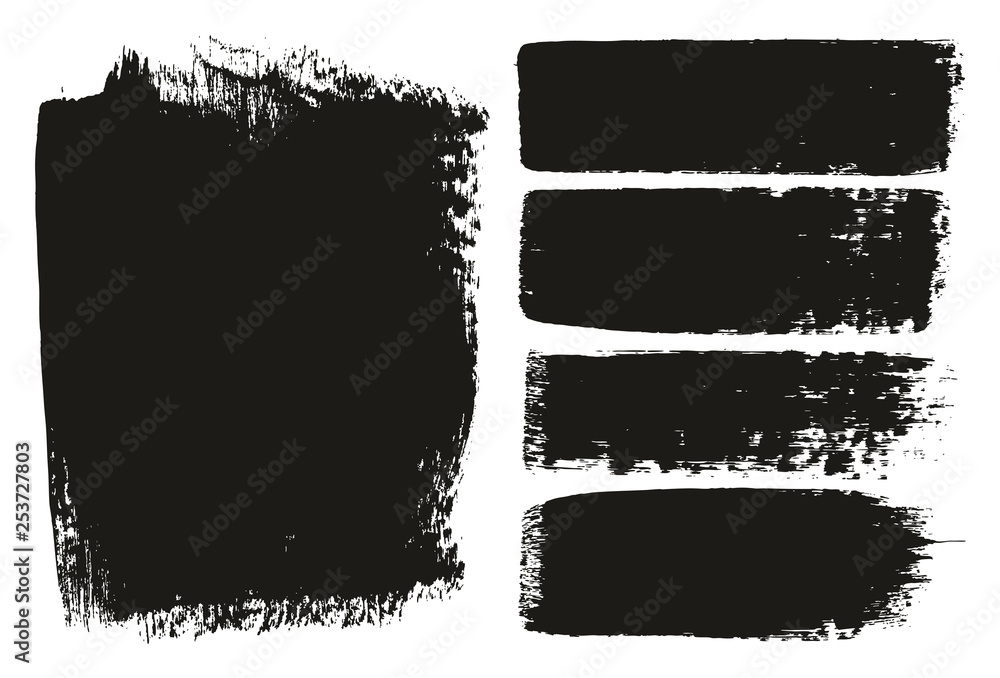 Fototapety, obrazy: Paint Brush Medium Background & Lines High Detail Abstract Vector Background Mix Set 15