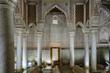 Leinwanddruck Bild - Columns in the Saadian Tombs in Marrakech, Morocco