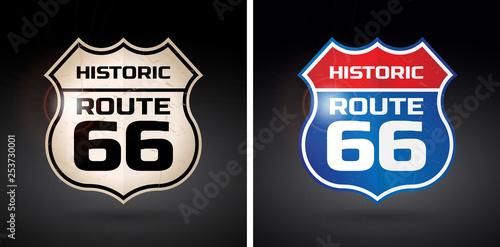 Foto  Historic route 66 shield