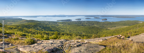 Panorama of Bar Harbor from Cadillac Mountain Fototapete