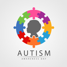 Autism Awareness Day Banner Wi...