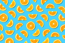 Fruit Pattern Of Orange Slices