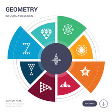 Set Of 9 Simple Geometry Vecto...