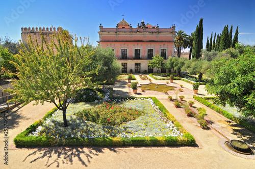 Gardens in the Alcazar de Jerez, Jerez de la Frontera, Andalusia, Spain.