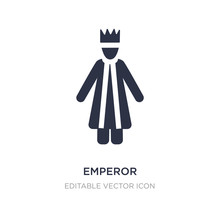 Emperor Icon On White Backgrou...