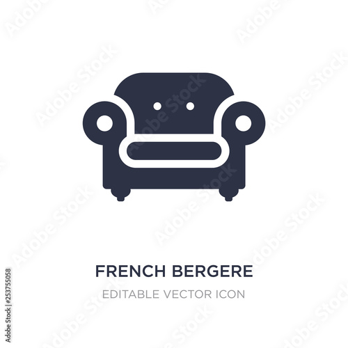 french bergere icon on white background Wallpaper Mural
